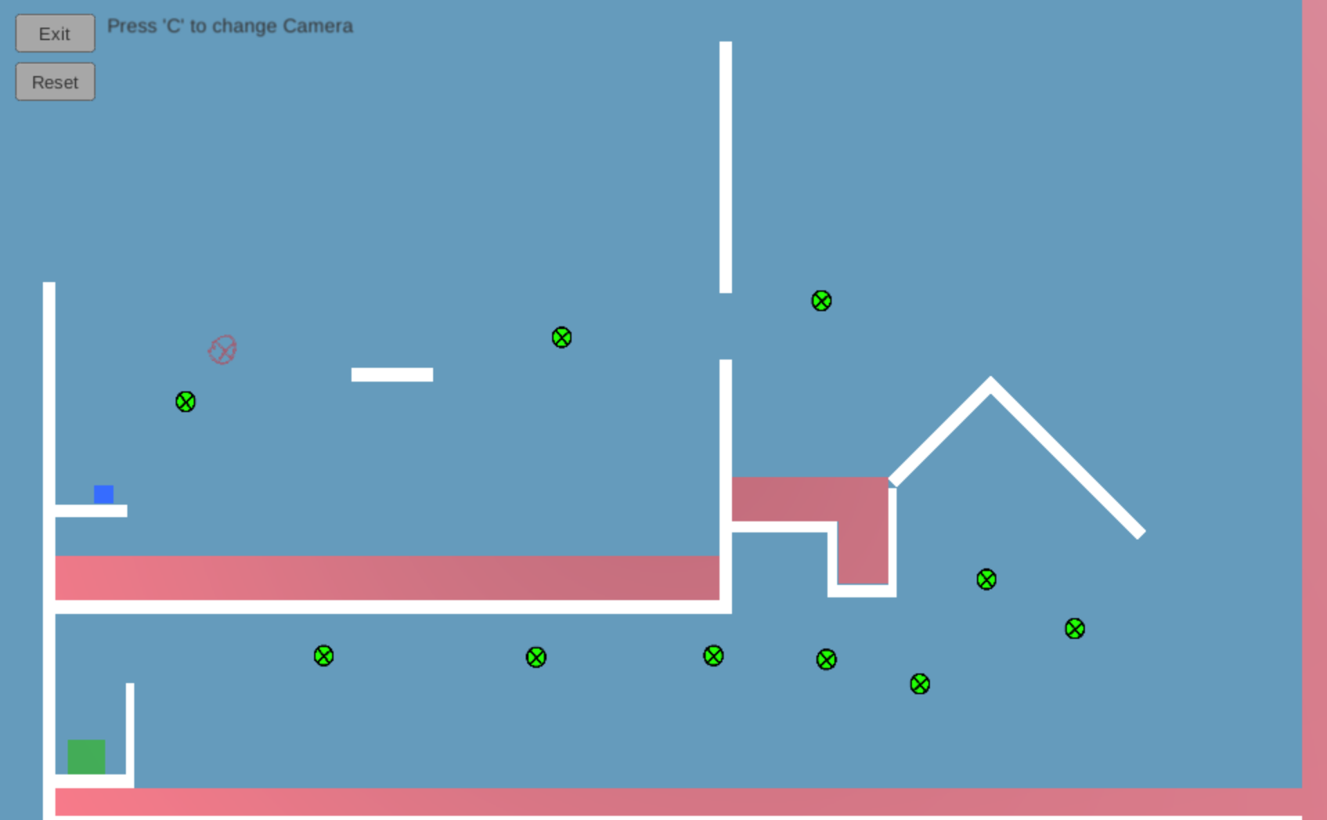 Screenshot of Grappel gameplay.