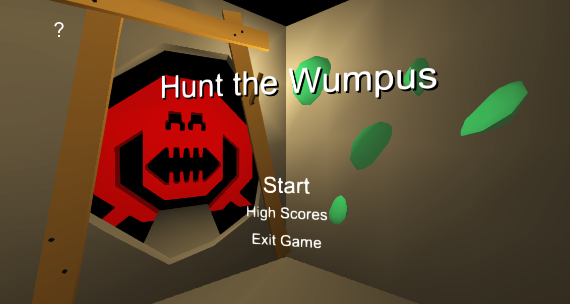 Hunt the Wumpus main menu.